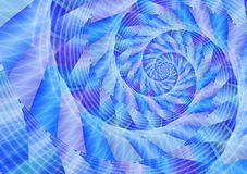 Vortex bleu d'énergie illustration stock