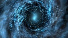 Vortex bleu de temps d'espace