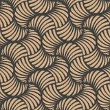 Vortex croisé de rétro de modèle de damassé de vecteur de fond de vague courbe sans couture de spirale Conception brune de luxe é illustration libre de droits
