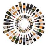 Vortex de bouteilles de vin image libre de droits