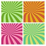 Vortex de tunnel dans le modèle multiple de rayure de couleur illustration libre de droits