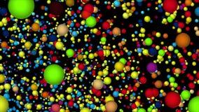Vortex des molécules folles illustration de vecteur