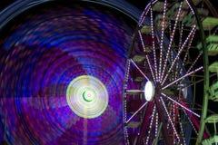Vortex at Fair. Spinning lights at the fair Royalty Free Stock Image