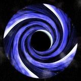 Vortex hipnótico do eclipse lunar ilustração royalty free
