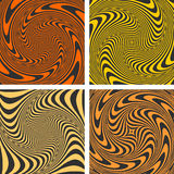 Vortex movement. Abstract designs set. Stock Photo