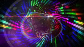 Vortex pattern with glowing lights Royalty Free Stock Images