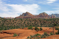 Vortex Plateau. Meditation place and popular spot for visitors to rest . Sedona in Arizona on the trail to the top of Cathedral Rock Stock Images
