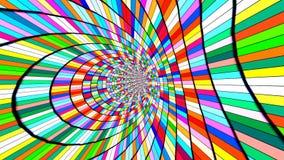 Vortex psychédélique fou plein avec des couleurs illustration stock