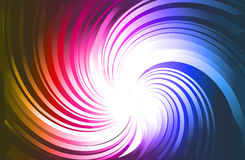 Vortex with Rainbow gradient background Royalty Free Stock Image