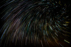 Vortex star trails Stock Images