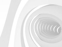 Vortex tunnel interior, 3d render. Abstract digital background, vortex tunnel interior over white background, 3d illustration Royalty Free Stock Photography