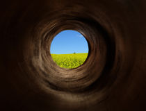 Vortex tunnel to the paradise fields Stock Photography