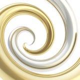 Vortex Twirled da câmara de ar da curva como o fundo abstrato Fotos de Stock Royalty Free