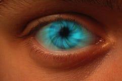 Vortice blu in un bulbo oculare Immagine Stock Libera da Diritti