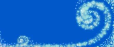 Vortice dei fiocchi di neve astratti Immagini Stock