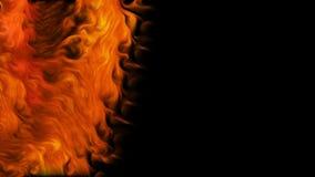 Vortice del fuoco su fondo nero stock footage