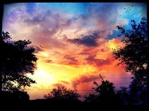 Vortice dell'arcobaleno Fotografie Stock