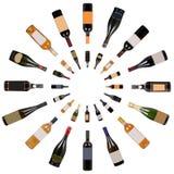 Vortice delle bottiglie di vino Fotografia Stock
