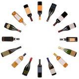 Vortice delle bottiglie di vino fotografia stock libera da diritti