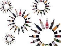 Vortice delle bottiglie di vino Immagini Stock Libere da Diritti