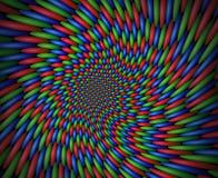 Vortice di turbine delle sfere rosse, verdi e blu Fotografia Stock