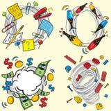 Vortice di turbine ispirato libro di fumetti Immagine Stock Libera da Diritti