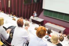 Vortrag an der Universität Stockfotos