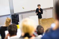 Vortrag an der Universität Stockfotografie