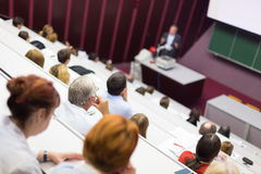 Vortrag an der Universität Lizenzfreie Stockfotografie