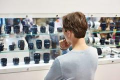 Vorwählen des Kameraobjektivs im Speicher Lizenzfreies Stockfoto