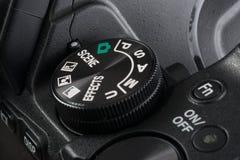 Vorwahl einer Digitalkamera Stockfoto