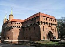 Vorwerk-Tor auf dem königlichen Weg in Krakau, Polen Stockfotografie