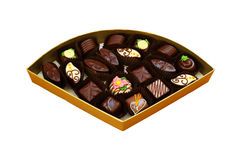 Vorzügliche handgemachte Schokoladen Stockbilder