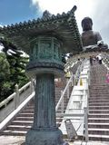 Vorzügliches Artefakt bei Tian Tan Big Buddha, Hong Kong Stockbilder