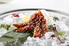 Vorzügliches asiatisches Menü im Restaurant Lizenzfreies Stockbild