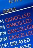 Vôos cancelados Imagens de Stock Royalty Free