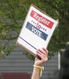 Vos comptes de voix Rappel d'inscription des électeurs image stock