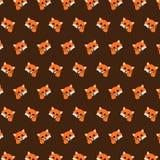 Vos - emojipatroon 06 vector illustratie