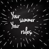 Vos règles - conception typographique Images libres de droits