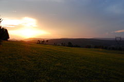 Vosges Mountains. This Image shows a sunset in the Vosges Mountains, France in August 2009 Royalty Free Stock Photos