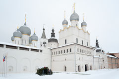 Voskresenskaya Cathedral in Rostov Kremlin. Russia. Wintertime. Royalty Free Stock Photography