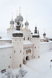 Voskresenskaya Nadvratnaya Cathedral in Rostov Kremlin. Russia Stock Photo