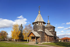 Voskresenskaya wooden Church in Suzdal museum, Russia Stock Images
