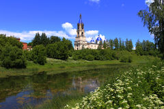 Voskresensky Cathedral, 1382, the city of Kashin,. Voskresensky cathedral architecture historic building built in 1382 tourist route oldest building in the citys royalty free stock photography