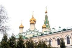 Voskresensky domkyrka av den ortodoxa Voskresensky Novodevichy kloster Arkivbild