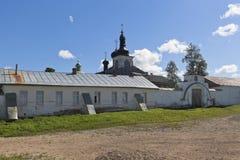 Voskresensky Goritsky女性修道院在沃洛格达州地区 库存照片