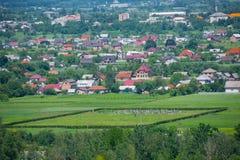 Voskresintsy乌克兰村庄的全景  免版税图库摄影