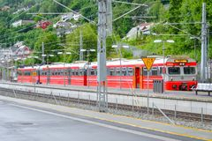 Voss, Νορβηγία, Σκανδιναβία - 17 Τον Ιούνιο του 2019: Σιδηροδρομικός σταθμός σε Voss, Νορβηγία στοκ εικόνες με δικαίωμα ελεύθερης χρήσης