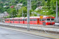 Voss, Noorwegen, Scandinavië - 17 Juni 2019: Station in Voss, Noorwegen royalty-vrije stock afbeeldingen