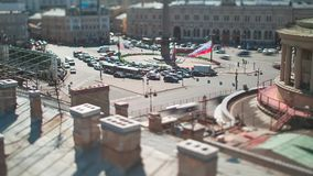 Vosstaniya Square Saint Petersburg Tilt-Shift Time Lapse. And stock video